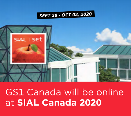 GS1 Canada will be online at SIAL CANADA 2020. September 28 - October 2, 2020